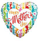 """18"""" Happy Mother Day Daisies Foil Balloon"""
