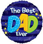 "18"" The Best Dad Everblue Foil Balloon"
