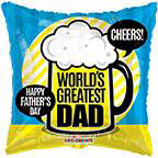 "36"" Greatest Dad Foil Balloon"