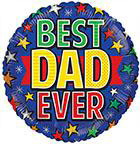 "18"" Best Dad Ever Round Foil Balloon"