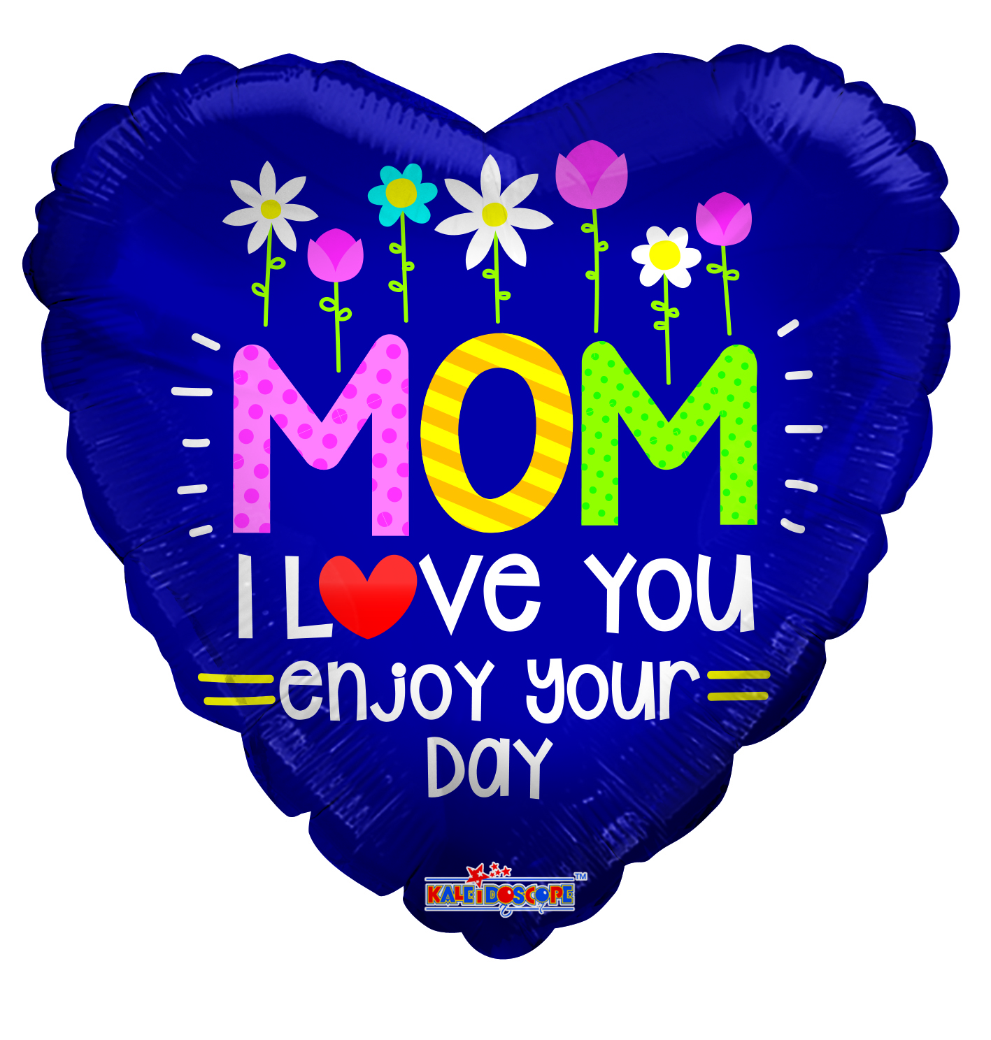 """18"""" Mom With Flowers Gellibean Foil Balloon"""