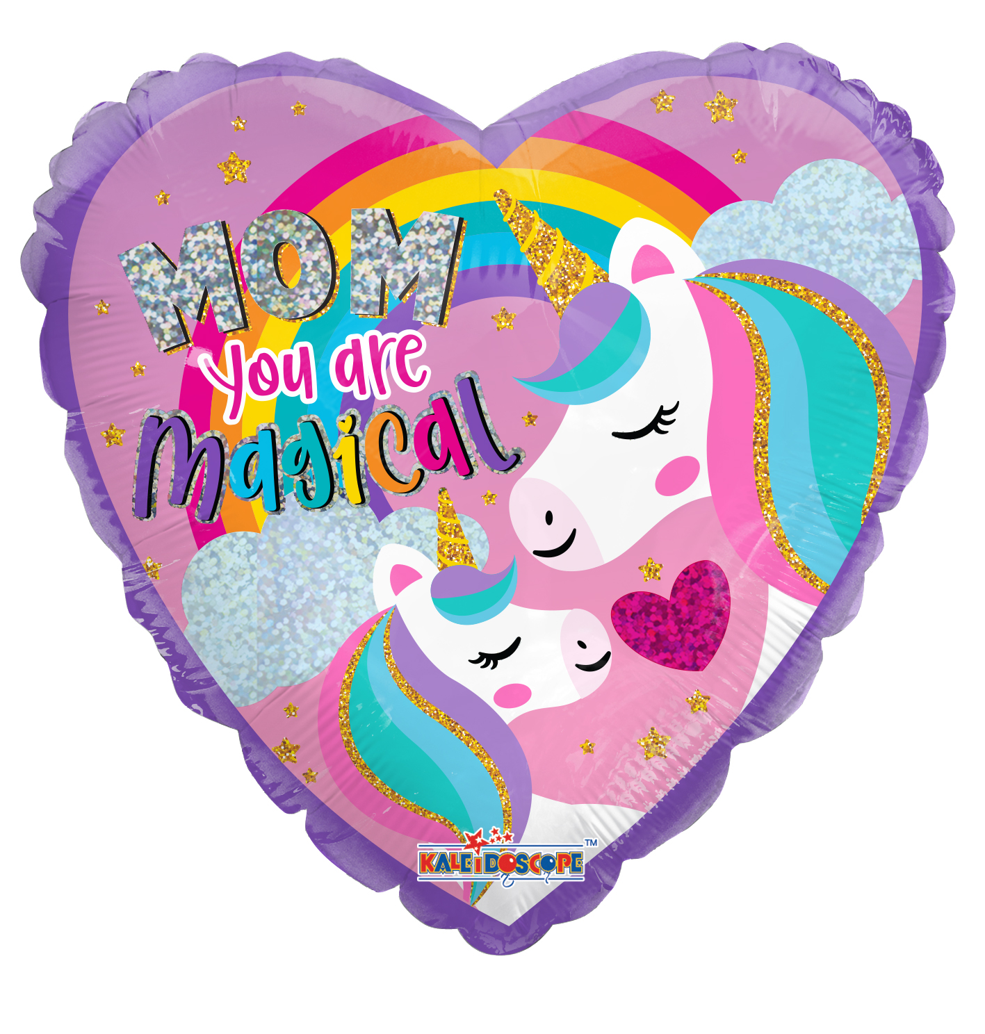 "18"" Mom Unicorn Holographic Foil Balloon"