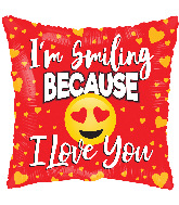 "18"" Love Smiling Gellibean Foil Balloon"