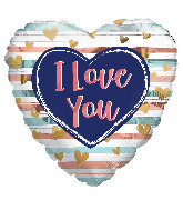 "18"" I Love You Trendy Colors Foil Balloon"