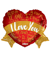 "14"" I Love You Languages Banner Foil Balloon"