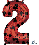 "26"" Mickey Mouse Forever Number 2 Mid-Size Foil Balloon"