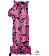 "26"" Minnie Mouse Forever Number 1 Mid-Size Foil Balloon"