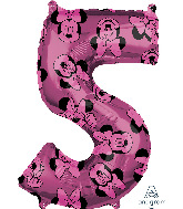 "26"" Minnie Mouse Forever Number 5 Mid-Size Foil Balloon"