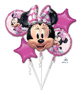 Minnie Mouse Forever Bouquet Foil Balloon