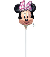 Airfill Only Minnie Mouse Forever Shape Valved Foil Balloon