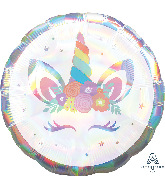 "28"" Unicorn Party Iridescent Holographic Foil Balloon"