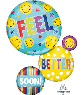 "28"" Feel Better Soon Bubbles SuperShape Foil Balloon"