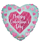"18"" Happy Valentine's Day Diamond Foil Balloon"