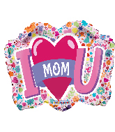 "18"" I Love You Mom Shape Foil Balloon"