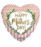 "17"" Happy Mother's Day Dots & Lines Foil Balloon"