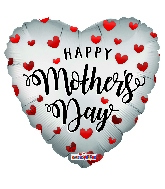 "18"" Happy Mother's Day Hearts Mt Foil Balloon"