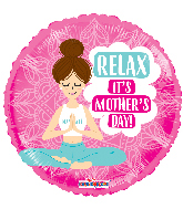 "17"" Happy Mother's Day Yoga Mom Foil Balloon"