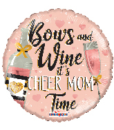 "17"" Mom Wine Foil Balloon"