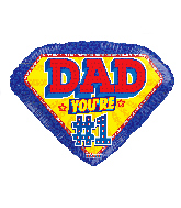 "18"" Dad #1 Foil Balloon"