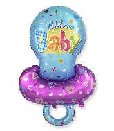 Jumbo Baby Boy Pacifier Blue Foil Balloon