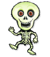 Jumbo Halloween Skeleton Green Foil Balloon