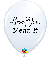 "11"" White (50 Per Bag) Simply Love You, Mean It Latex"