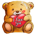 "18"" I Love You Bear With Kiss Shape Foil Balloon"