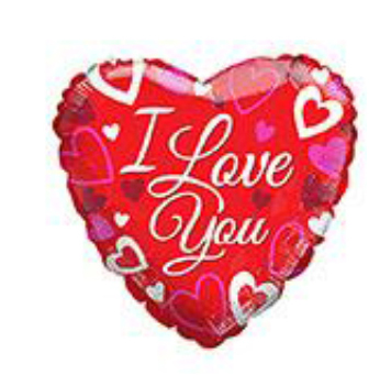 "18"" Foil Balloon I Love You Red"