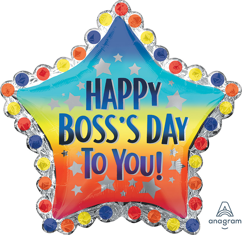 "30"" Jumbo Happy Boss's Day to You Foil Balloon"