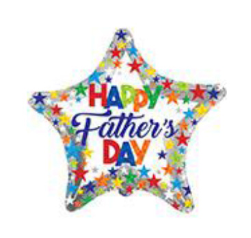 """18"""" Foil Balloon Father's Day Star"""