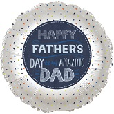 """9"""" Airfill Only Happy Father's Day Amazing Dad Balloon"""
