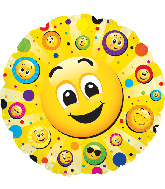 "24"" Jumbo Smiley Faces Balloon"