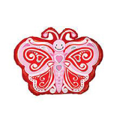 "18"" Foil Balloon Love Butterfly"