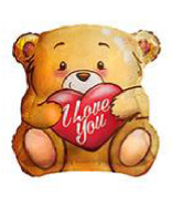 "18"" Foil Balloon I Love You Bear"