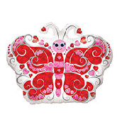"18"" Love Prismatic Butterfly Foil Balloon"