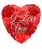 """18"""" I Love You Red Roses Foil Balloon"""