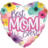 "17"" Best Mom Ever Foil Balloon"