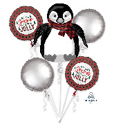 Bouquet Cozy Holiday Foil Balloon