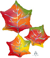 "30"" Jumbo Iridescent Leaves Foil Balloon"