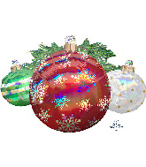 "35"" Jumbo Iridescent Ornaments Foil Balloon"