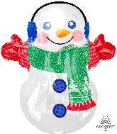 "21"" Junior Shape Adorable Snowman Foil Balloon"