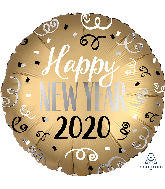 "18"" Satin Infused 2020 New Year Foil Balloon"