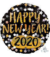 "18"" Happy New Years 2020 Foil Balloon"