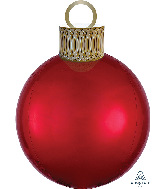 "20"" Red Orbz™ Ornament Kit Foil Balloon"