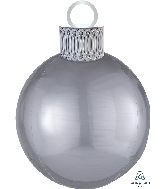 "20"" Silver Orbz™ Ornament Kit Foil Balloon"