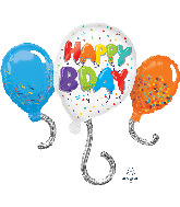 "34"" Jumbo Birthday Celebration Foil Balloon"