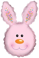 "31"" Bunny Head Pink Foil Balloon"