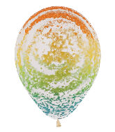 "11"" Betallic Graffiti Rainbow Marble Latex Balloons"