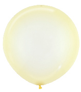 "24"" Betallatex Latex Balloons Crystal Pastel Yellow"