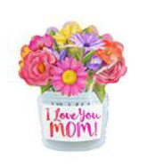 "18"" Foil Balloon I Love You Mom Flower Vase"